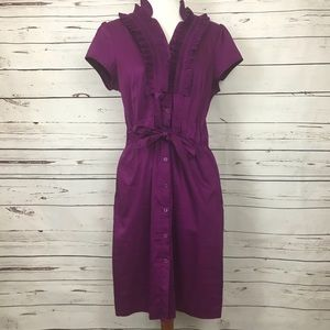 The Limited Ruffled Shirt Dress Size L